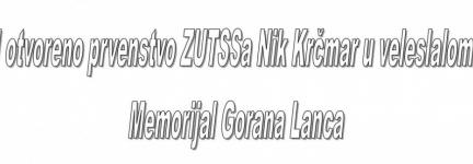 MEMORIJAL GORANA LANCA – SLJEME, 08.03.2019.